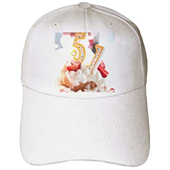 The Number 51 on Top of a Strawberry Shortcake to Celebrate a Birthday - Adult Baseball Cap