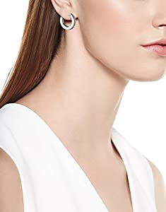 Channel-Set Diamond Huggie Hoop Earrings (1/10 cttw, I-J Color, I2-I3 Clarity) from Amazon Curated Collection