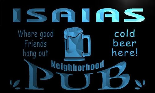enseigne-lumineuse-pg982-b-isaias-neighborhood-home-bar-pub-beer-neon-light-sign