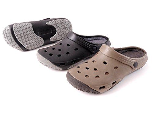 brandsseller-zuecos-de-material-sintetico-para-hombre-color-negro-talla-42
