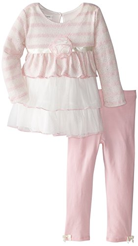 Bonnie Jean Little Girls' Triple Tiered Knit Playwear Set, Pink, 4T