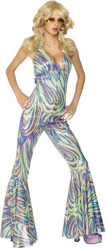 Smiffys Dancing Queen Kostüm Mehrfarbig Nackenträger-Catsuit, Small
