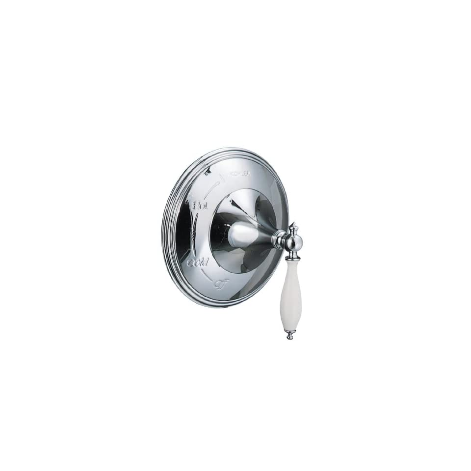 KOHLER K T309 4P CP Finial Traditional Rite Temp Pressure Balancing Valve Trim, Polished Chrome