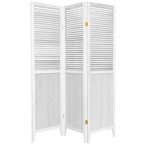 Purchase Oriental Furniture 6-Feet Tall Beadboard Room Divider, 3 Panel, White