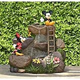 Disney Mickey and Minnie Fountain 22 in - NEW