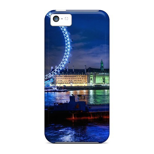 Iphone 5C Case Cover - Slim Fit Tpu Protector Shock Absorbent Case (The London Eye) front-214075