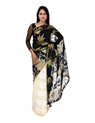 A1 Fashion Women Brasso & Net Black Saree With Blouse Piece - B00VUS036C
