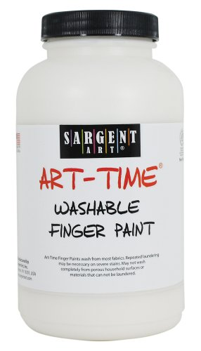 Sargent Art 22-9496 16-Ounce Art Time Washable Finger Paint, White