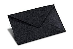 Lucrin - Rectangular A6 Envelope - Navy Blue - Granulated Leather