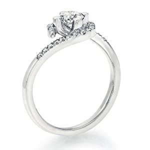 Certified, Round Cut, Solitaire Diamond Ring in 18K Gold / White (1/2 ct, F Color, SI3 Clarity)