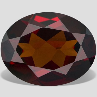SI Clarity 0.90 carat Oval Cut Red Color Garnet Stone 7 X 5 mm Loose Gemstone