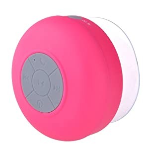 Gizga Waterproof Wireless Bluetooth Shower Speaker Handsfree Speaker with Mic for All Android Phones-Pink by Gizga