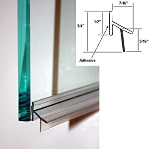 Clear Polycarbonate Drip Rail And Sweep Combination W Vhb