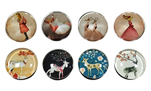 VASTING ART 8-Pack Refrigerator, Fridge Hold Durable Vintage Cute Animal Deer Fun Modern Office push pin for Whiteboard Home Decoration (Micro Cool Mini Fridge compare prices)