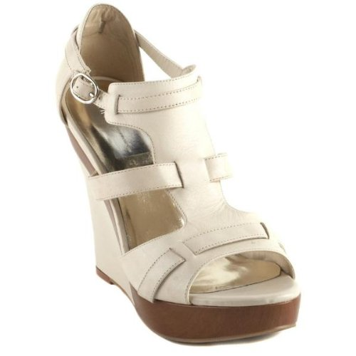 Inc International Concepts Cameo Womens Size 11 Ivory Leather Wedges Shoes