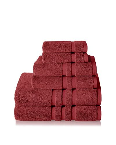 Chortex of England Irvington 6-Piece Towel Set, Burgundy
