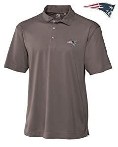 New England Patriots Mens Drytec Genre Polo Circuit by Cutter & Buck