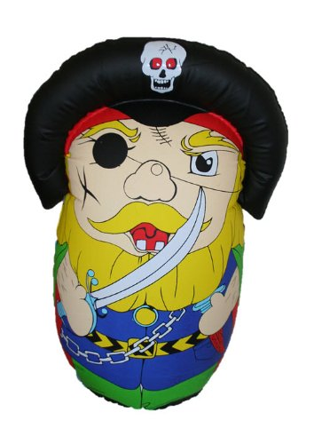 Pirate Inflatable Roly Poly, Bat & Wobble! - 1