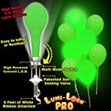 LumiLoons Balloon Lights Green Balloons White Lights 10 Pack
