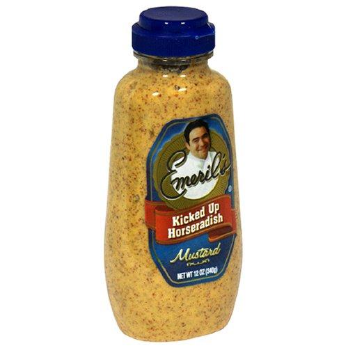 Emeril's Kicked Up Horseradish Mustard, 12-Ounce Unit (Pack of 6)