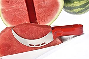 High Quality Watermelon Knife Slicer and Corer Kitchen Tool with a Comfortable Silicone Handle as Seen on TV This Kitchen Gadget Has a Ebook 25 Tantalizing Watermelon Recipes By Elite Premium Products