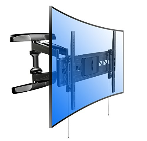 Loctek R2 For Both Flat Panel And Curved Panel UHD HD TV Wall Mount Bracket Articulating Arm Swivel & Tilt for most of 32-70 Inches LED, LCD, Plasma, OLED TVs