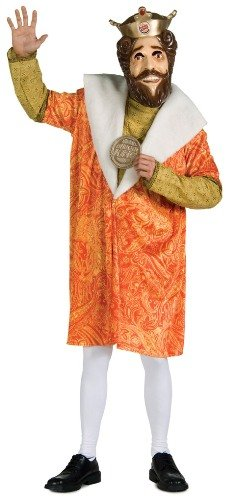 Mens Costume TV Commercial Burger King Party Outfit Adult Standard (44