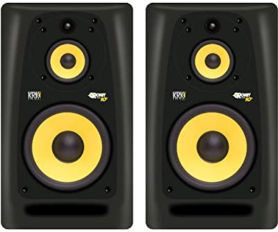 KRK Rokit Powered 10-3 Pair Mid-Field 3-Way Powered Studio Monitors - 10 Inch by KRK