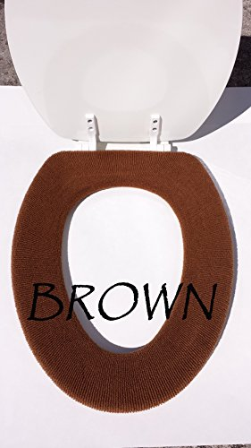 Brown Closestool Washable Toilet Seat Lid Warmer Cover (Elongated Toilet Lid Cover Brown compare prices)