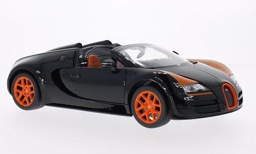 Bugatti Veyron 16.4 grande sport Vitesse, nero/arancio, modello di automobile, modello prefabbricato, Rastar 1:18 Modello esclusivamente Da Collezione