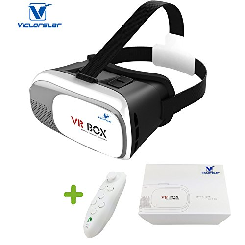 VICTORSTAR@ VR BOX II 3D Headset Glasses VR Virtual Reality 3D Video Glasses 3D Game Glasses For 4.7 to 6 Inch Smartphones IOS Android Cellphones VR BOX II with Remote Controller