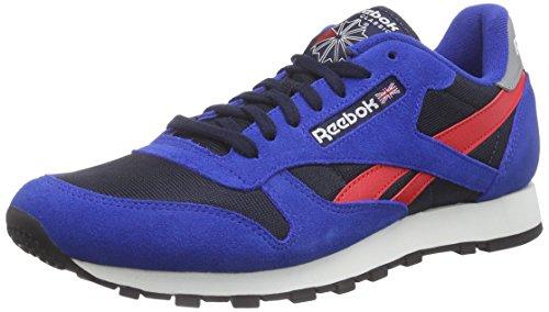 Reebok - Classic Sport Clean, Sneakers da uomo, blu (rbk royal/faux indigo/red rush/silver/chalk/black), 48.5