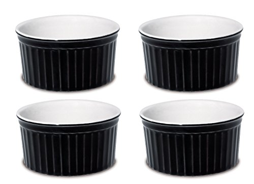 Oxford Porcelain Ramekin- Black- Set of 4