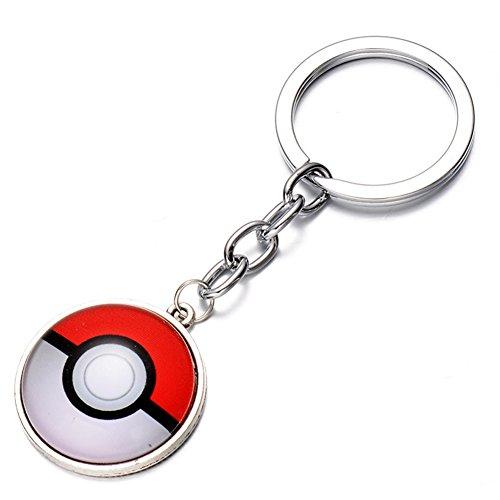 CG-Costume-Pokemon-Go-KeyChain-PokeBall-Key-Ring-Alloy