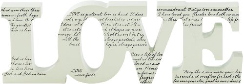 Word Plaque Love (Love Decor Tabletop compare prices)