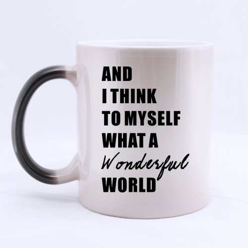 New Top What A Wonderful World Morphing Coffee Mug or Tea Cup - 11 ounces (One Direction Lyric Mug compare prices)