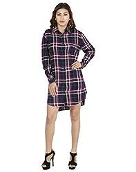 IndZone Women Checks Shirt(1601 - M_Multicoloured_Medium)