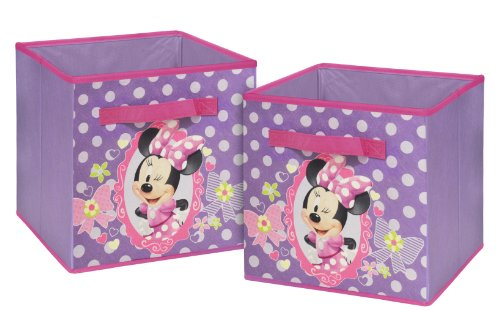 Disney  Minnie Mouse Storage Cubes, Set of 2, 10-Inch