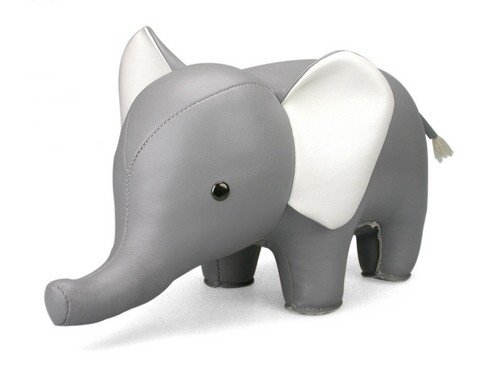 Elephant Gray Animal Bookend