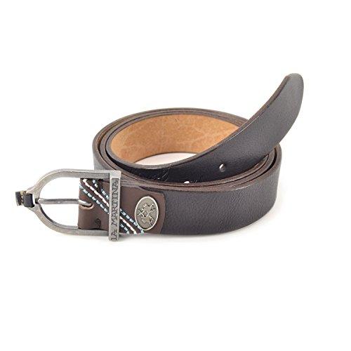 Cintura uomo in pelle La Martina Col. Nero - L53PM023B964999