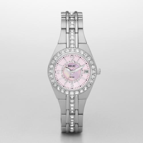 Relic Queens Court Silvertone Watch