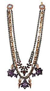 Mawi London Triple Chain Crystal Nymph Hematite/Rose Gold Necklace of  43.3 cm