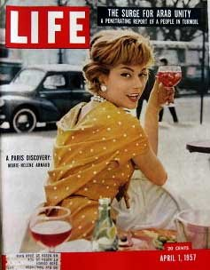 Life Magazine April 1, 1957 -- Cover: A Paris Discover: Marie-Helene Arnaud