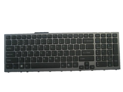 LotFancy New Sinister With Silver-grey Frame keyboard for Sony Vaio PCG-81113L PCG-81114L PCG-81115L PCG-81214L PCG-81312L Laptop / Notebook US Layout