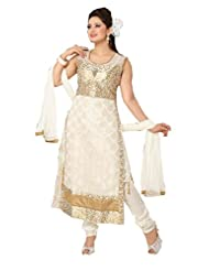 Ritu Creation Women's New Silk Straight Long Chudidar Suit With Side Border&Dori Pattern