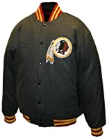 "NFL Men's Washington Redskins Charcoal ""Dual Edge"" Reversible Wool Jacket from MTC Marketing, Inc."