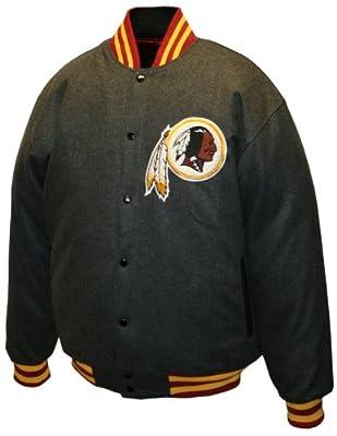 "NFL Men's Washington Redskins Charcoal ""Dual Edge"" Reversible Wool Jacket"