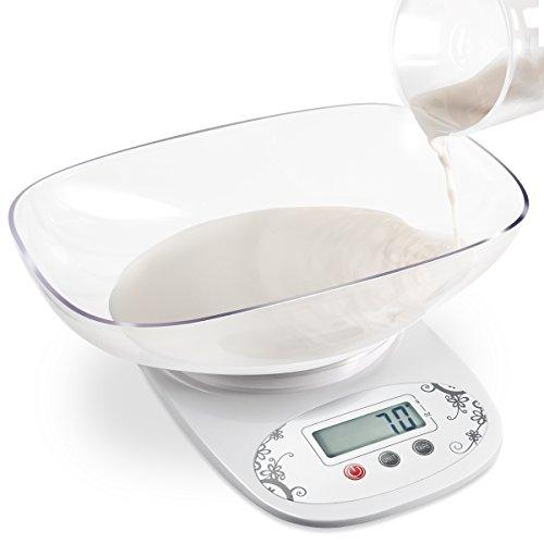 Amir® デジタル クッキング スケール 1g単位/5kgまで 調理用 料理用スケール キッチンスケール 高精度 計量器 電池付き