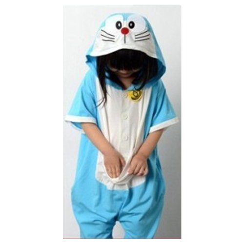 Doraemon: desk with cat animal costume Christmas desk with Cats Pajamas for kids short sleeve costume Halloween disguise cosplay costume Ruleronline (100 (costume))