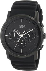 Hugo Boss Black Dial Black Rubber Mens Watch 1512639